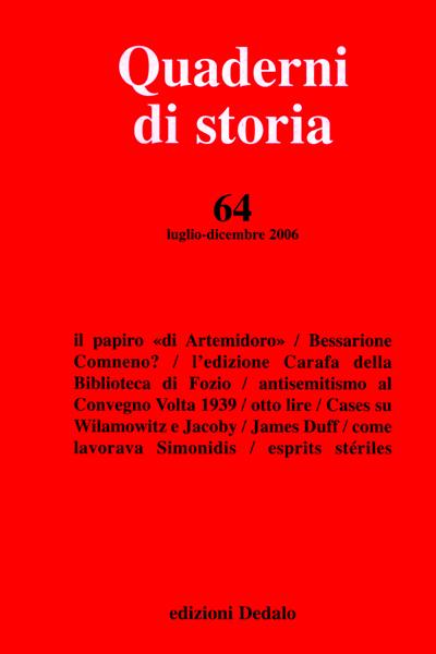 Quaderni di storia 64/2006