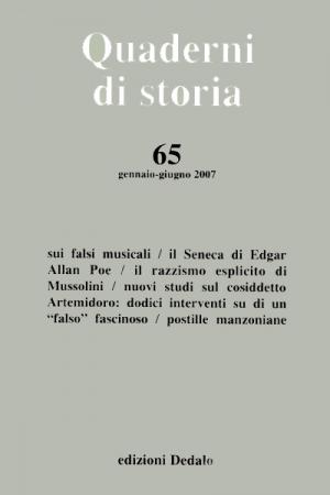 Quaderni di storia 65/2007