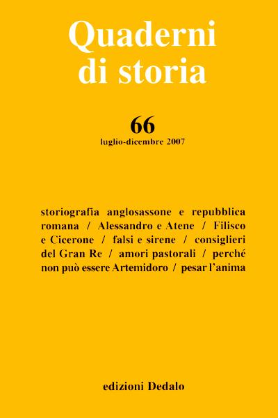 Quaderni di storia 66/2007