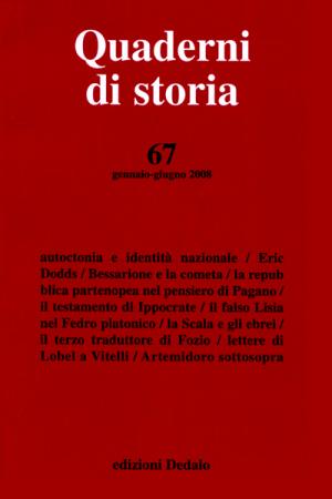 Quaderni di storia 67/2008