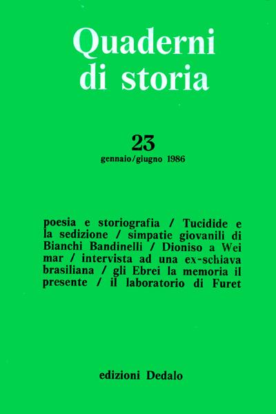 Quaderni di storia 23/1986