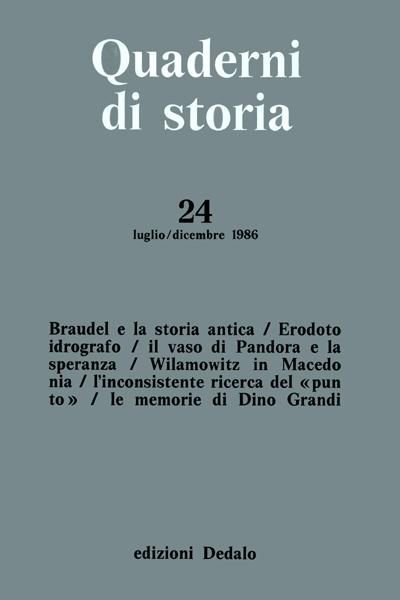 Quaderni di storia 24/1986