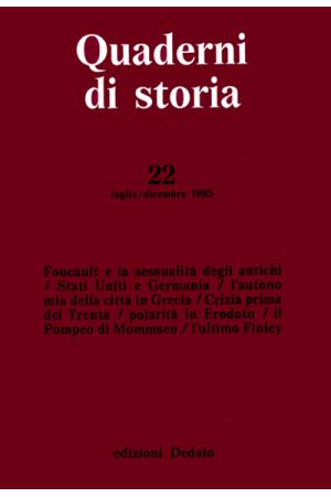 Quaderni di storia 22/1985