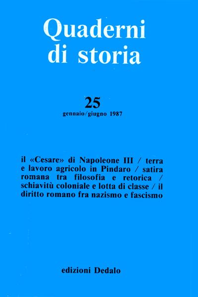 Quaderni di storia 25/1987