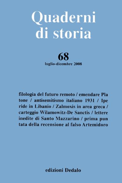 Quaderni di storia 68/2008