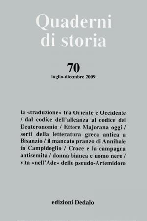 Quaderni di storia 70/2009