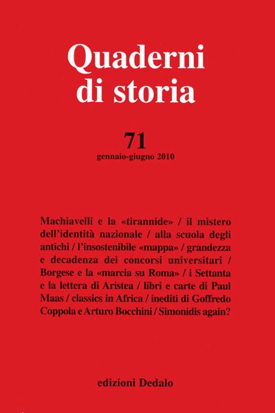 Quaderni di storia 71/2010