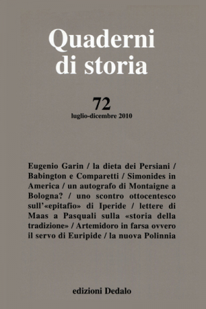Quaderni di storia 72/2010