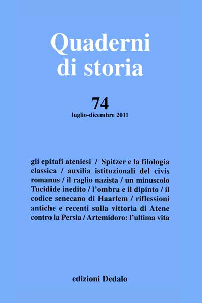 Quaderni di storia 74/2011