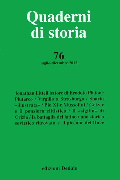 Quaderni di storia 76/2012