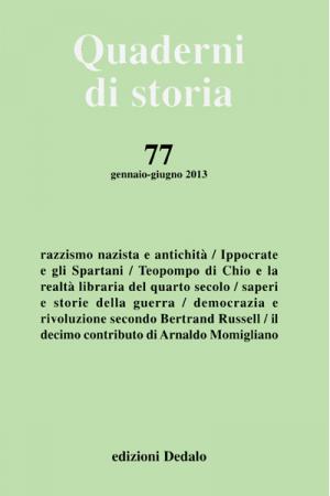 Quaderni di storia 77/2013