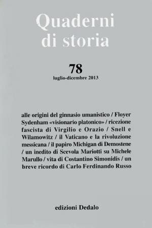 Quaderni di storia 78/2013