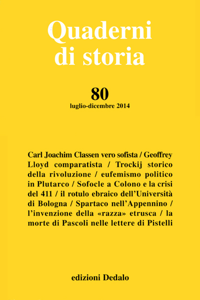 Quaderni di storia 80/2014 PDF