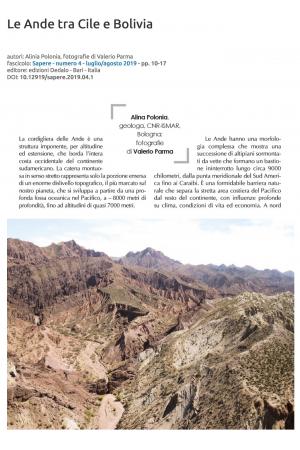 Le Ande tra Cile e Bolivia