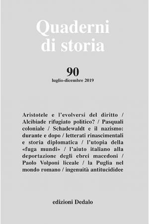 Quaderni di storia 90/2019