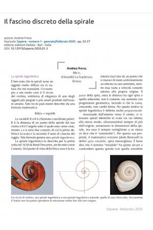 Il fascino discreto della spirale