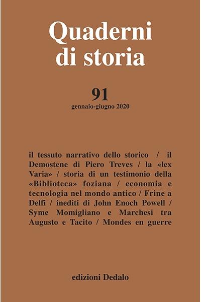 Quaderni di storia 91/2020