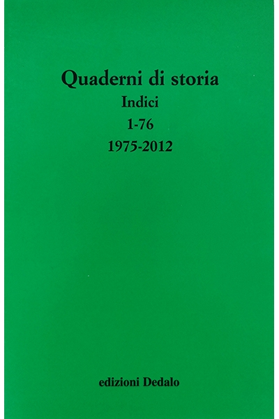Quaderni di storia - indici 1/76