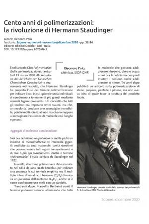 Cento anni di polimerizzazioni: la rivoluzione di Hermann Staudinger