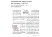 L'importanza del carbonio organico per la salvaguardia del suolo