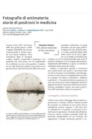 Fotografie di antimateria: storie di positroni in medicina