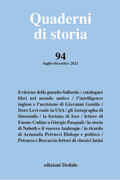 Quaderni di storia 94/2021