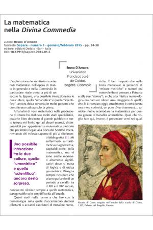 La matematica nella Divina Commedia di Bruno D'Amore