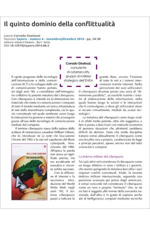 Il quinto dominio della conflittualità di Corrado Giustozzi