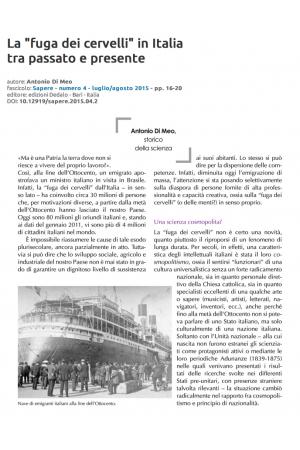 """La """"fuga dei cervelli"""" in Italia tra passato e presente"""