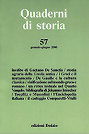 Quaderni di storia 57/2003