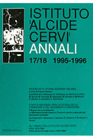 Annali Istituto Cervi 17/18, 1995-1996