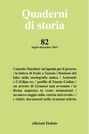 Quaderni di storia 82/2015 PDF