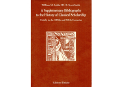 A Supplementary Bibliography to the History of Classical Scholarship