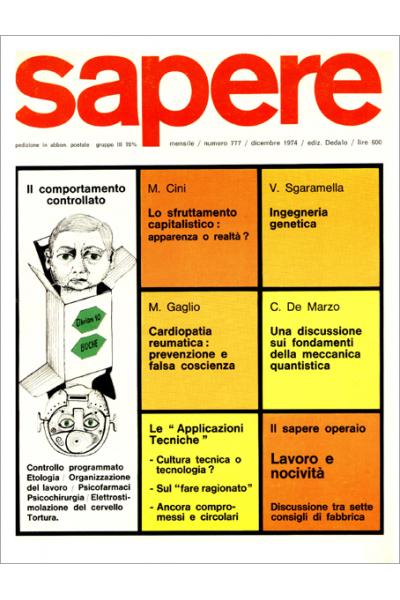 Sapere 777/1974