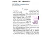 La scienza nella Grande guerra