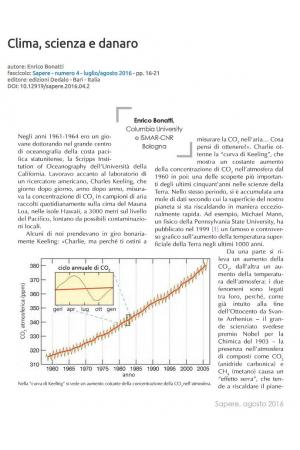 Clima, scienza e denaro