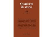 Quaderni di storia 85/2017