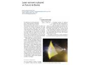 Laser estremi e plasmi: un futuro brillante