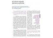 La fusione nucleare: opinioni a confronto