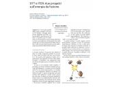 DTT e ITER: due progetti sull'energia da fusione