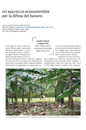 Un approccio ecosostenibile per la difesa del banano
