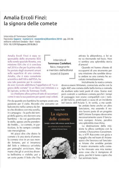 Amalia Ercoli Finzi: la signora delle comete