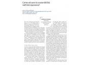 Come attuare la sostenibilità nell'Antropocene?